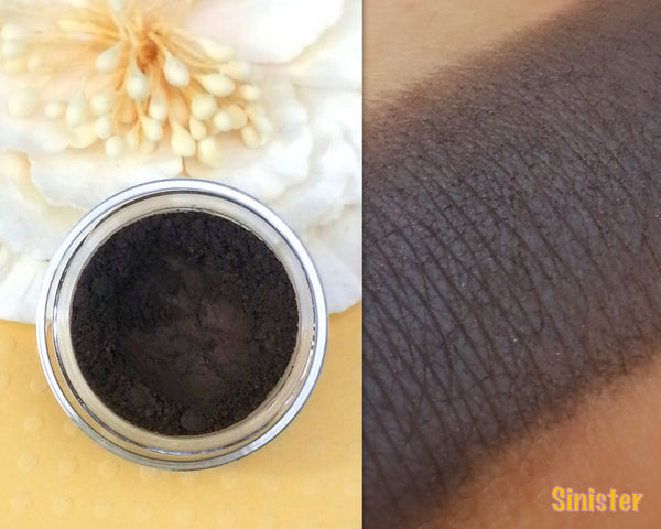 SINISTER- Mineral Matte Eyeshadow and Eyeliner- All Natural, Vegan Friendly