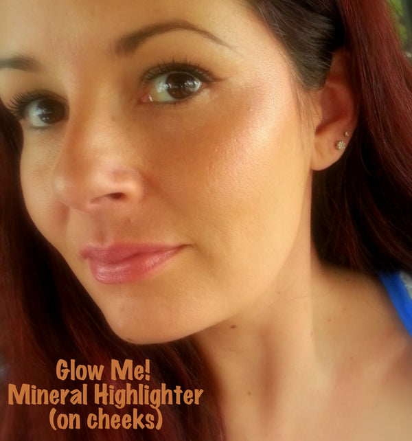GLOW ME All Natural, Vegan Body Shimmer and Face Highlighter- Mineral Makeup