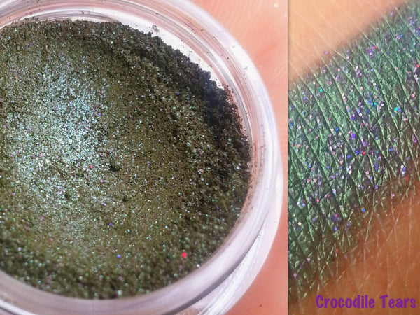 Crocodile Tears Mineral Eyeshadow,-All Natural, Vegan-Eyeshadow and Eyeliner Makeup