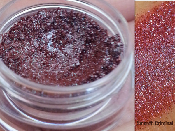 SMOOTH CRIMINAL- Professional Grade Cosmetic Glitter Eyeshadow and Eyeliner. Vegan friendly.