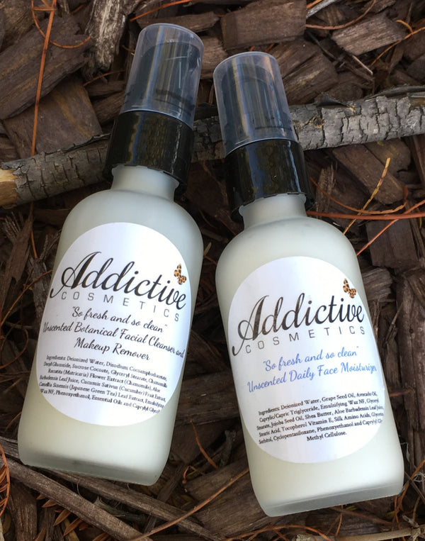 So Fresh and So Clean Unscented Face Lotion and Fragrance Free Face Wash- Vegan Friendly Skincare