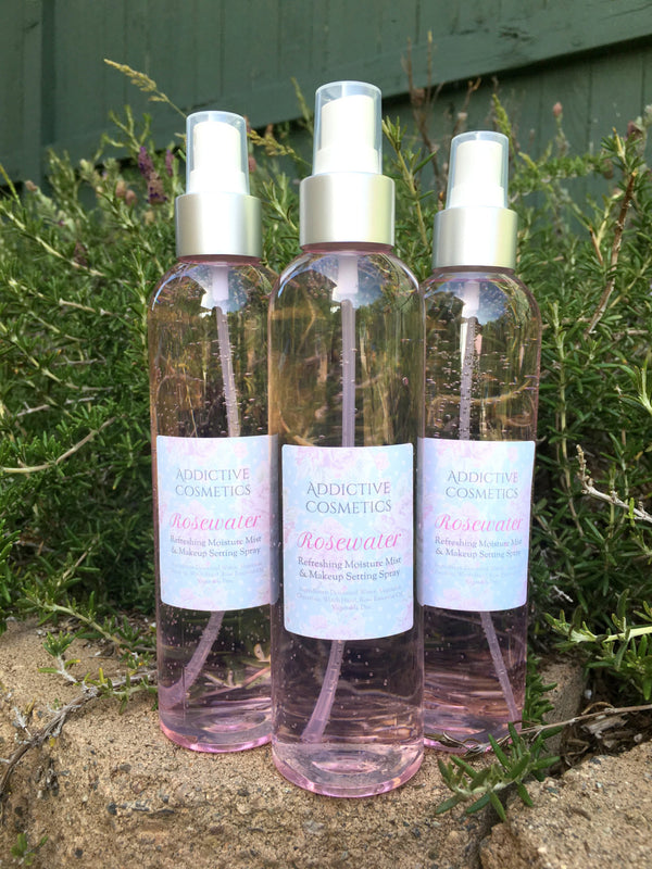 ROSEWATER Refreshing Moisture Mist and Makeup Setting Spray. Great for Face, Hair & Body