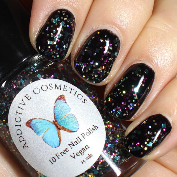 SHOW ME YOUR BEADS- 10 Free Glitter Nail Polish- Vegan Friendly, Cruelty Free