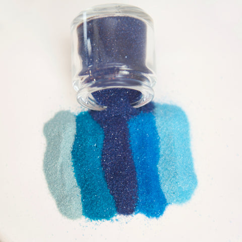 Blue Colored Sand For Wedding Unity Ceremony