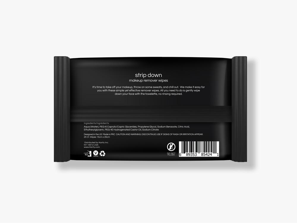 Eyes Strip Down Makeup Remover Wipes