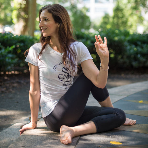 Women's Jivamukti Yoga New York Snake Logo Shirt