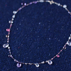 Short. Amethyst, Rose Quartz, Ruby, Topaz Necklace