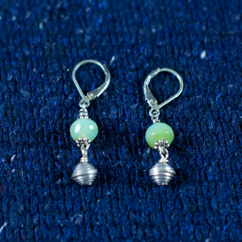 Peruvian Opal, Thai Silver, Sterling Silver Earrings