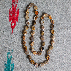 Brown Long Agate Necklace