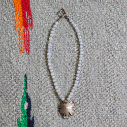 Thai Silver (Fine) Flower with Chalceodny, Labradorite Necklace