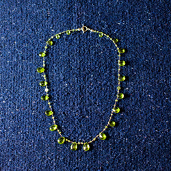 Short- Peridot Necklace
