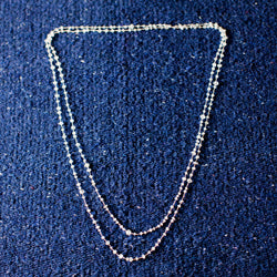 Long- Little Moonstone Labradorite Necklace