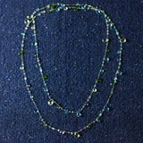 Long- Topaz, Swiss & London Blue Chrome Diopside Apatite, Presiolite Necklace