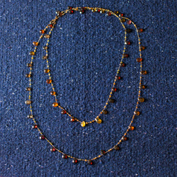 Long- Brown Tourmaline Necklace