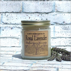 Soy Wax Candle: Royal Lavender (Handcrafted)