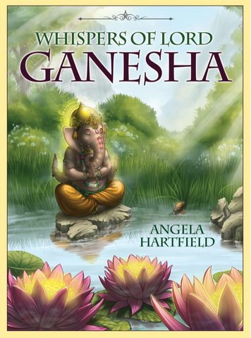 Whispers of Lord Ganesha: Oracle Cards by Angela Hartfield