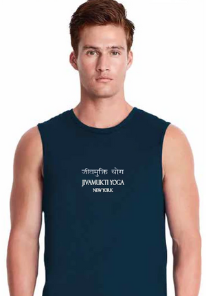 Jivamukti Men's Muscle Tank - Navy