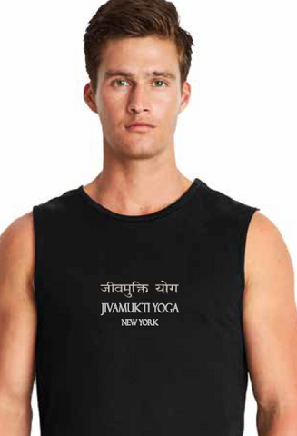 Jivamukti Men's Muscle Tank - Black