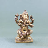 Seated Ganesha - Brass