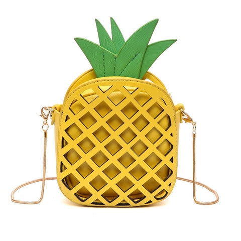 Cute Pineapple Leather Bag