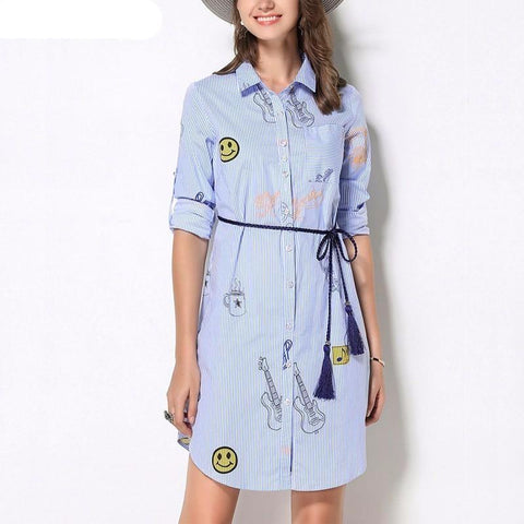 Patches & Pockets Dress - Extended Sizes
