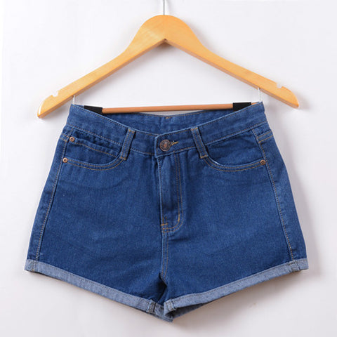 High Waist Denim Shorts - WearTF!