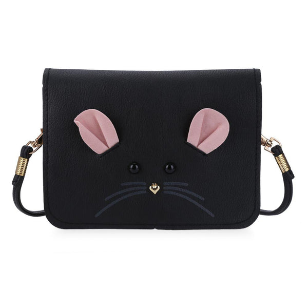 New Fashion PU Leather Mouse Shoulder Bag