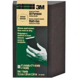 "3M CP-040 DETAIL AREA ANGLED FINE SANDING SPONGE 4-7/8"" X 2-7/8"" X 1"""