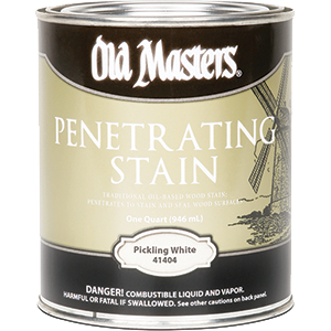 OLD MASTERS 41404 PICKLING WHITE PENETRATING STAIN