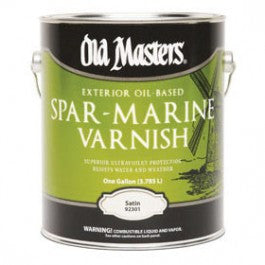 OLD MASTERS 92301 SATIN SPAR MARINE VARNISH EXTERIOR COATING