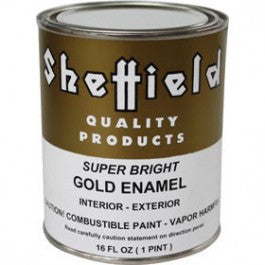 SHEFFIELD 4740 16 OZ EXTERIOR METALLICS SUPER BRIGHT GOLD ENAMEL OIL BASED