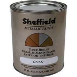 SHEFFIELD 5740 EXTERIOR METALLICS SUPER BRIGHT GOLD ENAMEL PAINT OIL BASED