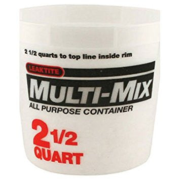 Leaktite 5M3 Multi Mix Mixing Container 2 1/2 Quart