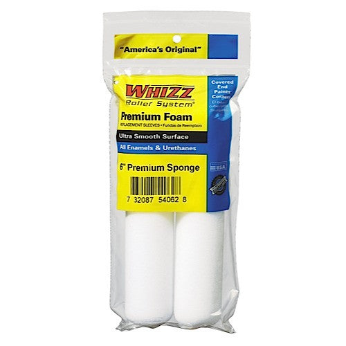 "WHIZZ 2-PK 6"" FOAM-ROUND ENDS  54062"