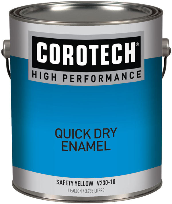 COROTECH V230-10 QUICK DRY ENAMEL - GLOSS SAFETY YELLOW