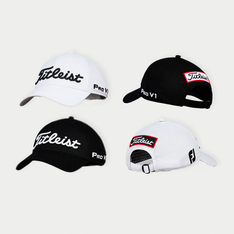 One White & One Black Titleist Tour Ace Cap