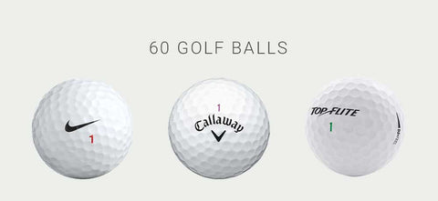 5-Dozen Mint or Near Mint Golf Balls (Premium Brands)