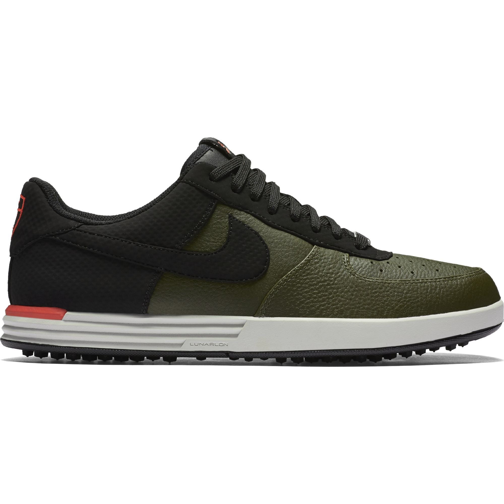 timeless design 38adb 49cd5 ... Men s - NIKE LUNAR FORCE 1 G - Cargo Khaki Black-Max Orange- ...