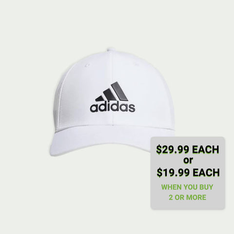 A-STRETCH ADIDAS BADGE OF SPORT TOUR HAT WHITE