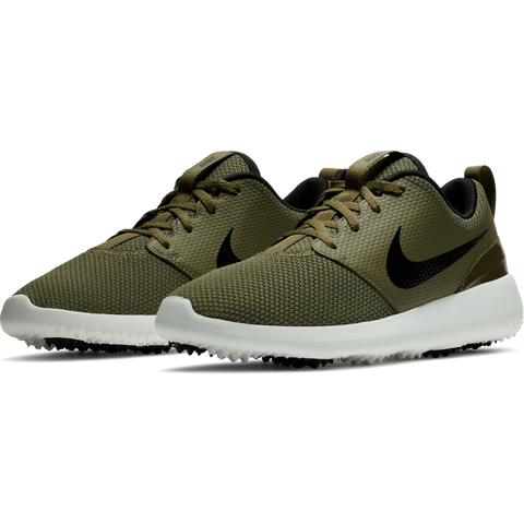 Nike Men's Roshe G Golf Shoes - Medium Olive/Black