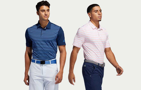 Two Men's Adidas Polos (1 of each Style)