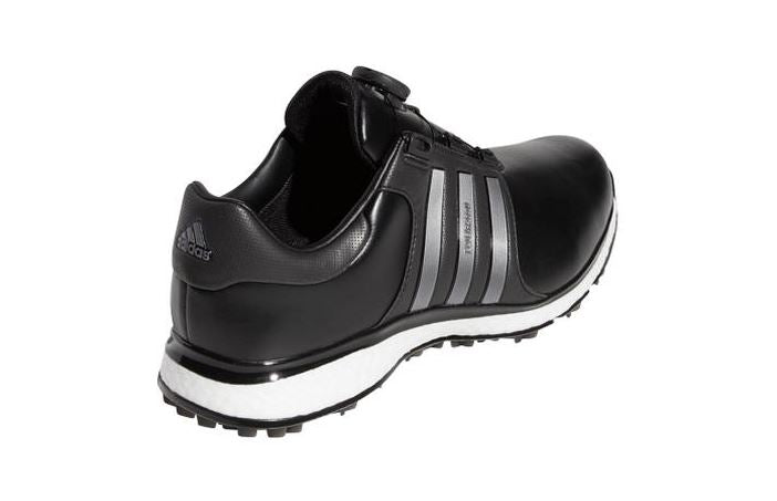 Men's Adidas Tour360 XT Boa Spikeless Golf Shoe - BLACK/SILVER/WHITE