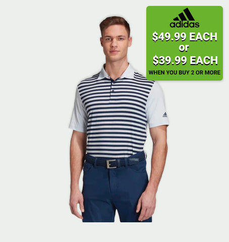 ULTIMATE365 STRIPE POLO SHIRT