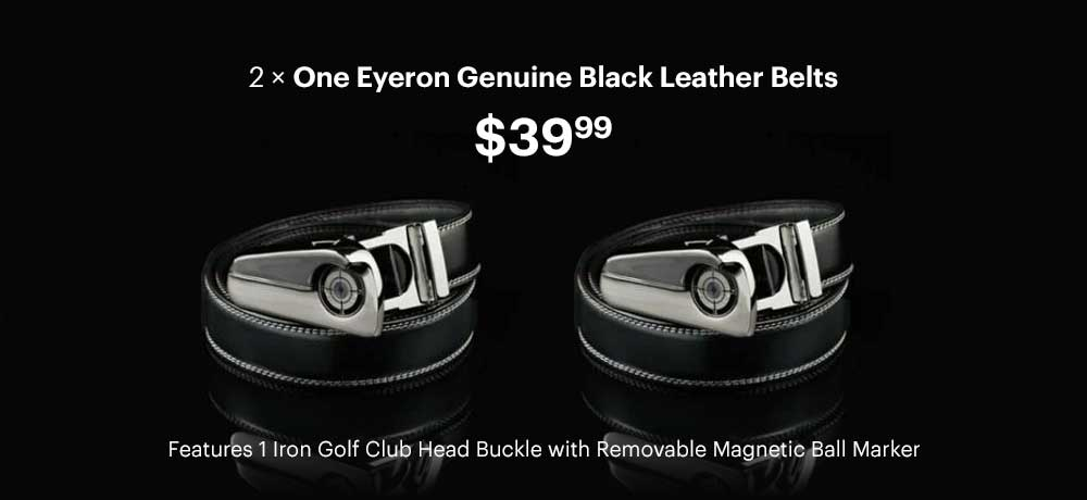 Men's 1Eyeron Golf Belt (Two Genuine Leather Belts - One Low Price)