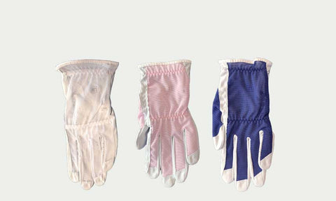 3 x Ladies LH (for RH golfers) NS Golf Glove - Receive One White, One Pink, One Dark Blue