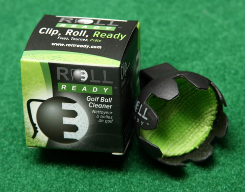 Roll Ready - A Unique Single Handed Golf Ball Cleaner (Available in 2, 4, 5, 6, and 8 Packs)