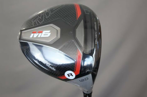 Taylormade M6 Driver - 12.0 (Stiff Flex) - Right Handed - Atmos Orange Shaft