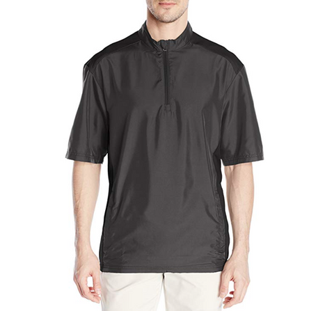 ADIDAS GOLF - BLACK - Club Short Sleeve Wind Jacket