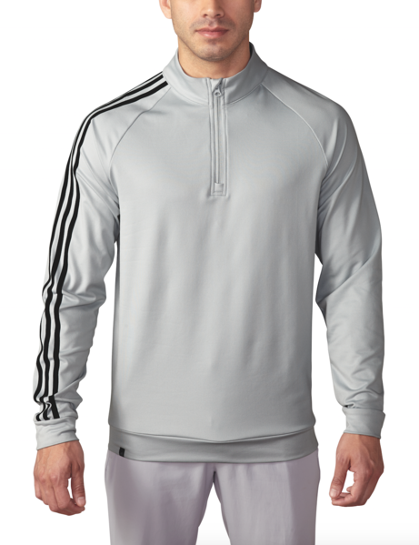 huge selection of d7224 080c4 ADIDAS GOLF - Stone - 3 Stripes 1 4 Zip Pullover ...