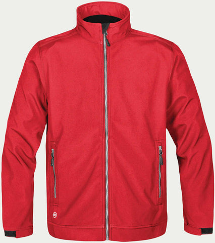 Red Stormtech CX-1 Men's Cyclone Softshell Golf Jacket